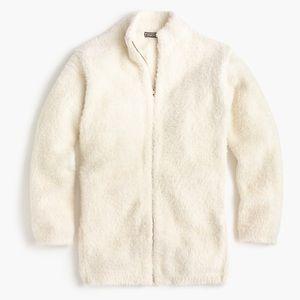 J. Crew Point Sur fuzzy zip up cardigan